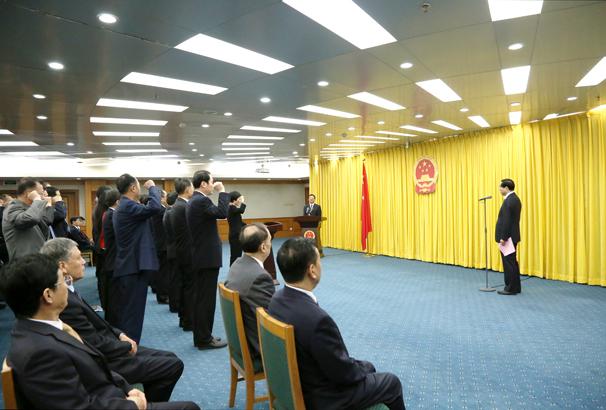 国家林业和草原局机关司局级领导干部宪法宣誓仪式