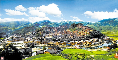 贵州文化旅游产业发展的重点景区——西江千户苗寨 资料图片