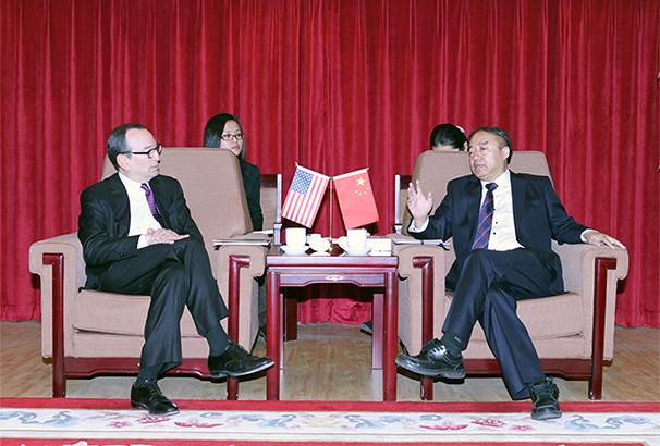 陳鳳學會見美國芝加哥市副市長史蒂夫•高克