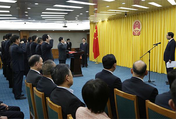 國家林業局舉行首次憲法宣誓儀式