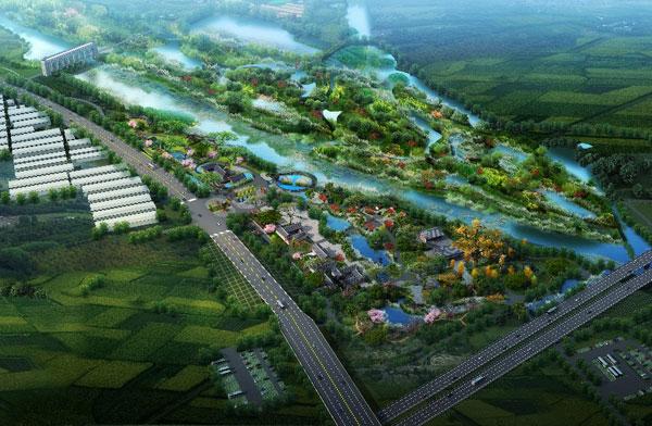 惠济河国家湿地公园鸟瞰图